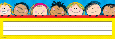 Class Decoratives Smiling Stick Kids Name Plates