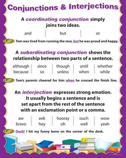 English Charts Ctp5707 Conjunctions Amp Interjections Chart