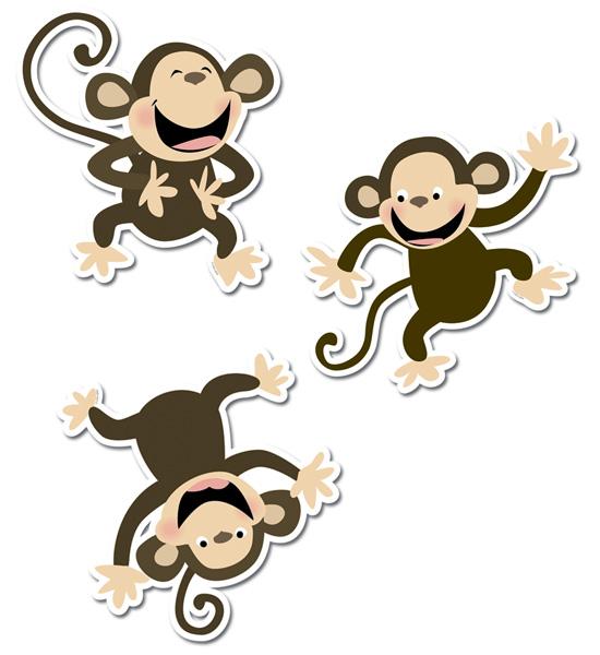 Monkeys 10 Jumbo Designer Cut Outs Detail on Free Printable Rewards Charts