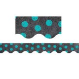 Dots on Chalkkboard turquoise
