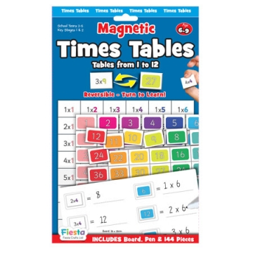 Learning games t 2685 magnetic times tables tables for 1 to 12 times table games